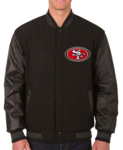 Reversible 49ers Varsity Jacket