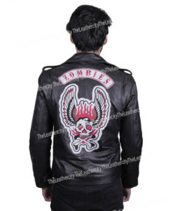 Post Malone Zombies Jacket | Goodbyes Song Vintage Black Leather Jacket