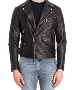 WandaVision's Pietro aka Quicksilver Black Motorcycle Leather Jacket