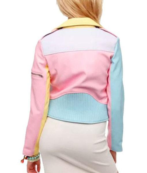 Women's Rainbow Pastel Moto Jacket