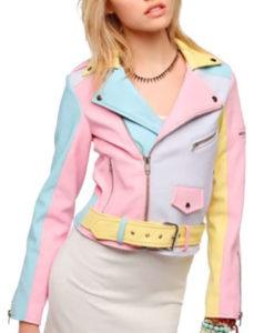 Rainbow Pastel Moto Jacket