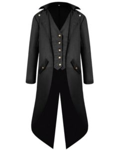 Men's Gothic Victorian Steampunk Frock Tailcoat