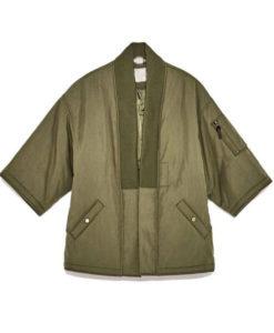 Men's Kimono Olive Green Jacket