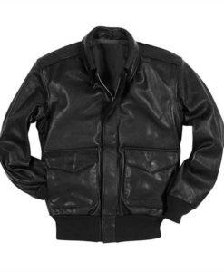 Men's A-2 Flight Black Leather Jacket