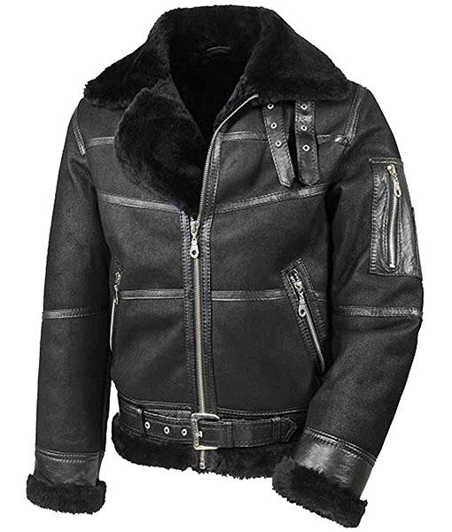 Men's Aviator B16 Belted Leather Jacket
