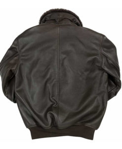Men's B-15 Flight Black Leather Jacket