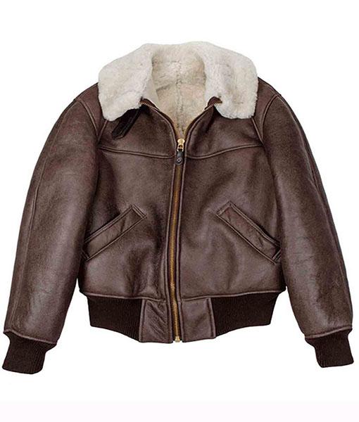 Men's B-26 Aviator Flight Brown Leather Jacket