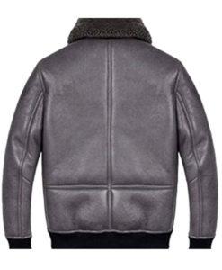 Men's B2 Grey Shearling Leather Jacket