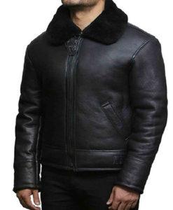 Men's B3 Shearling Black Leather Jacket