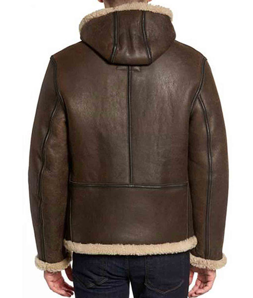 Men's B6 Shearling Brown Leather Jacket