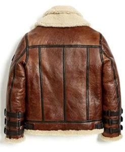 Men's Double Collar Aviator Leather Jacket