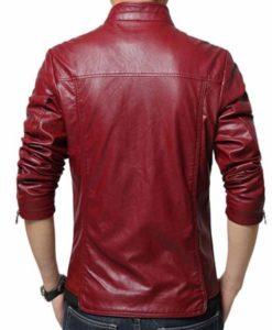 Men's New Style Slim Fit Maroon Jacket