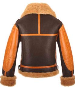 Men's Raf B3 Aviator Bomber Leather Jacket