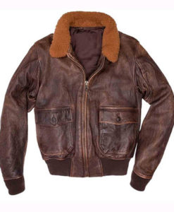 US Navy G-1 Brown Aviator Leather Jacket